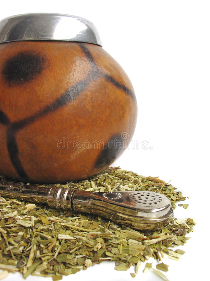 Download Yerba mate cup and straw stock image. Image of south, macro - 2904701