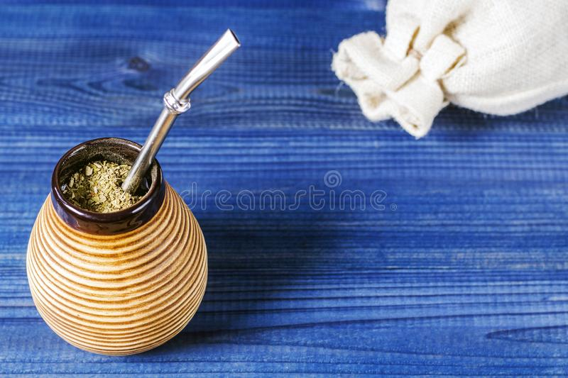 Yerba mate. Traditional latin american drink stock image