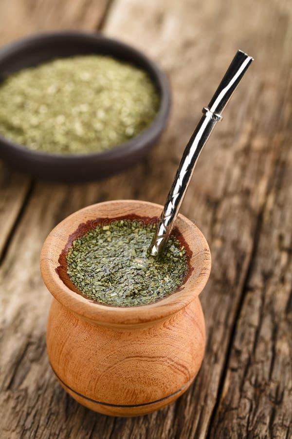 Yerba suramericano Mate Tea imagen de archivo libre de regalías