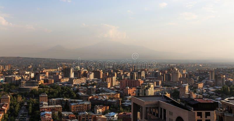 Yereva, l'Ararat fotografia stock libera da diritti