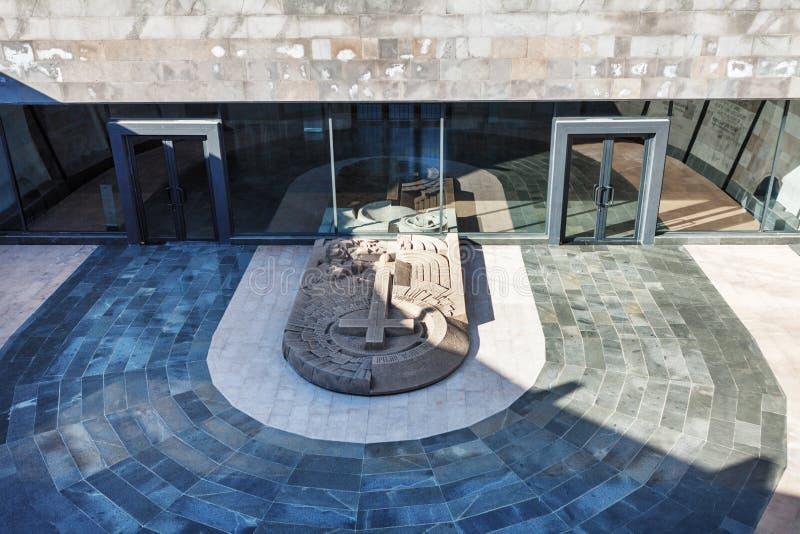 Yerevan, Armenië - 26 September 2017: Tsitsernakaberd - het Armeense Volkerenmoordgedenkteken en het museum in Yerevan, Armenië M royalty-vrije stock afbeelding