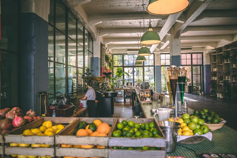 Organic food market in Armenia royalty free stock photo
