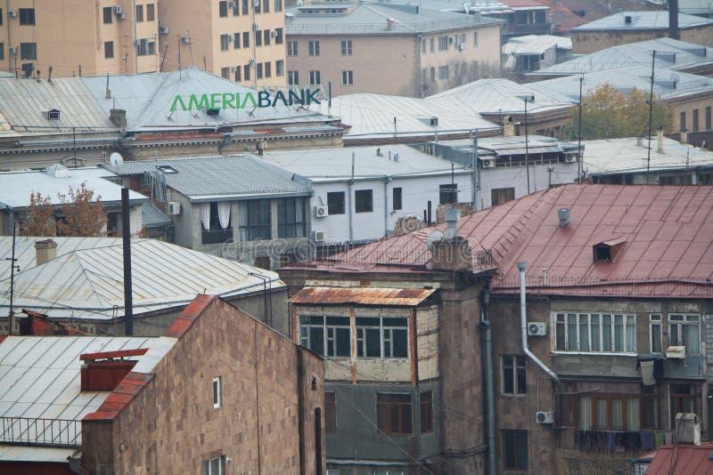 Yerevan Armenien - December 04, 2018: Ameriabank royaltyfri bild