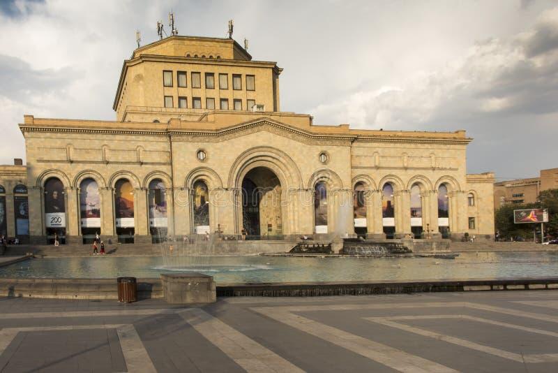 Yerevan Armenien - September 17, 2017: Byggnaden av Natioen royaltyfri foto