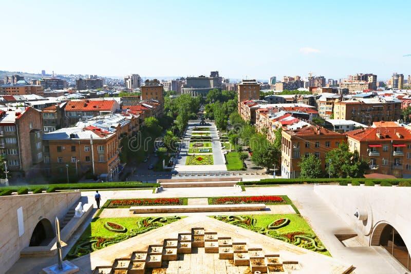 Yerevan city stock photography
