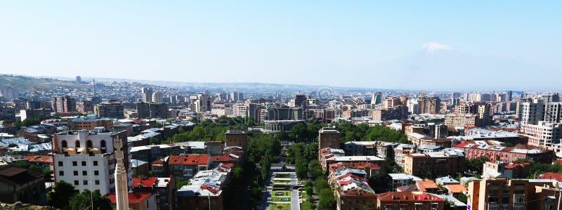 Yerevan city stock image