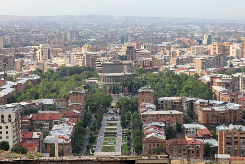 Yerevan in de ochtend royalty-vrije stock afbeelding