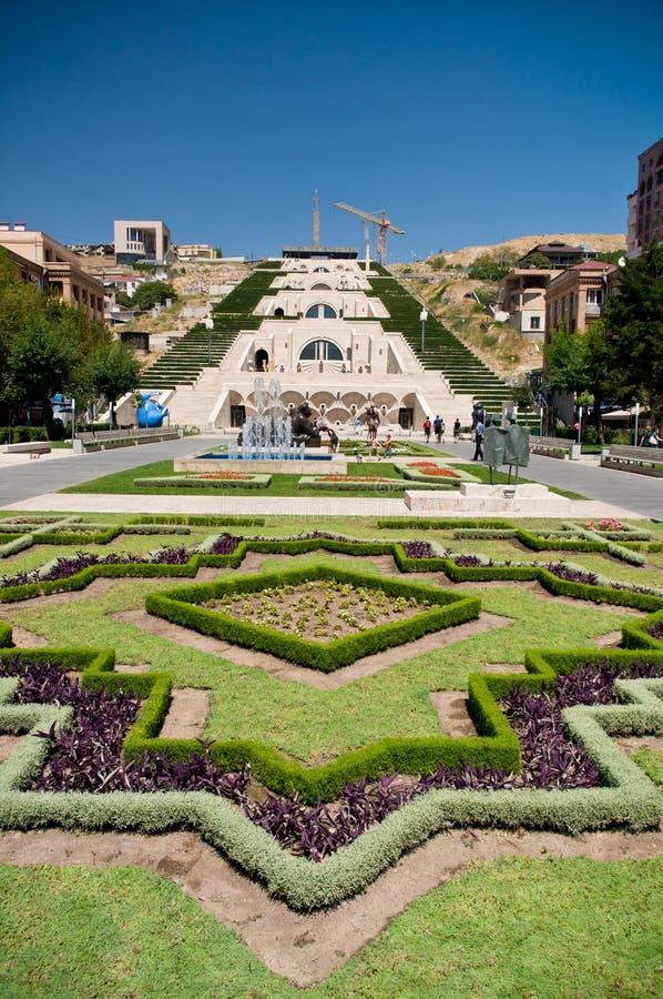 Yerevan huvudstad av Armenien arkivbild