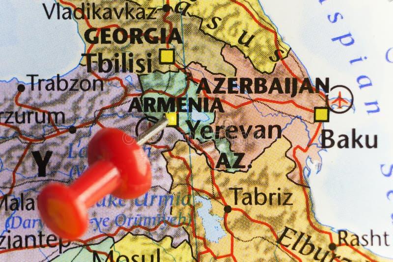 Yerevan huvudstad av Armenien royaltyfria foton