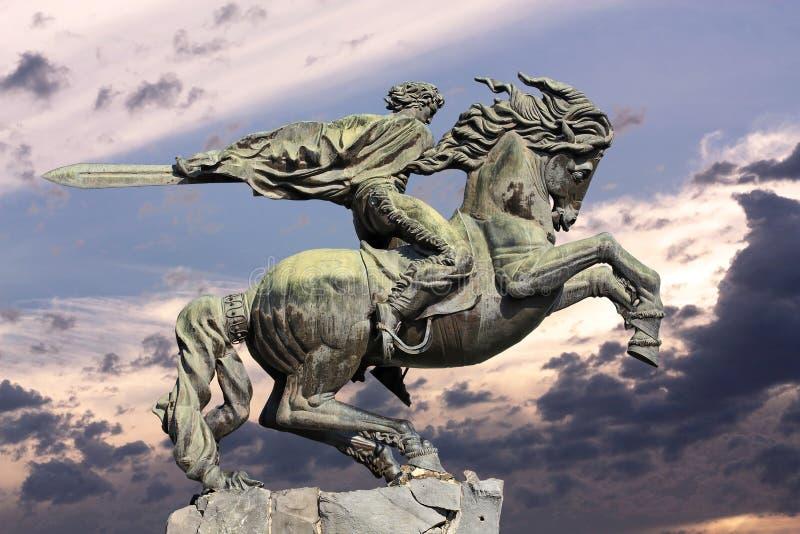 Yerevan monument David av Sasun - hjälte av armeniska epos royaltyfri foto