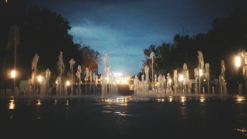 Yerevan nachten stock fotografie