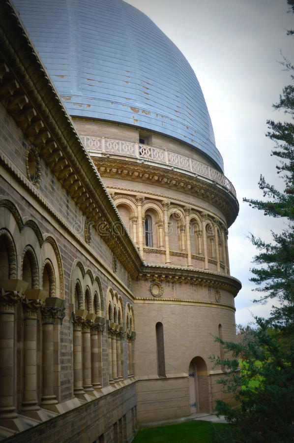 Yerkes Observatory Leading Into Larger Dome. A close up of Yerkes Observatory hall windows leading into the larger dome. Yerkes is part of the University of royalty free stock photography