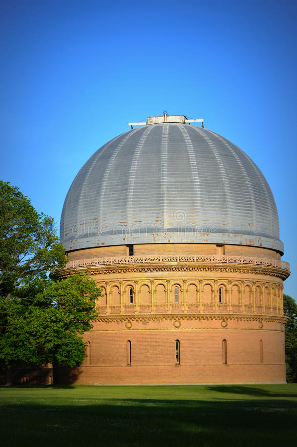 Yerkes Observatory. This is the Yerkes Observatory, located in Williams Bay, Wisconsin. It is a facility of the Department of Astronomy and Astrophysics of the royalty free stock photos