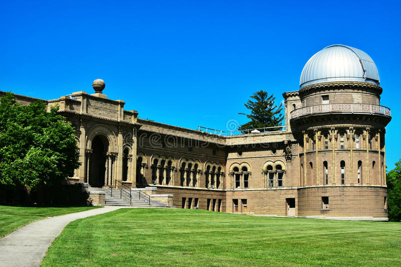Yerkes Observatory. In Williams Bay, Wisconsin. Part of the University of Chicago royalty free stock photos