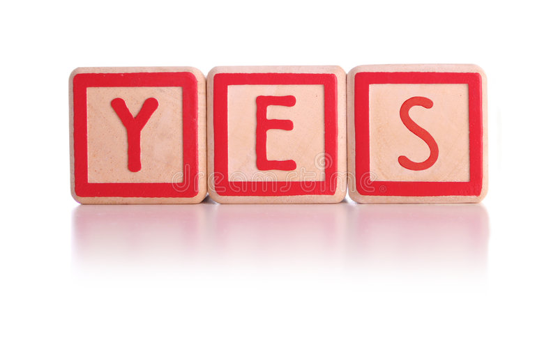 Download Yes blocks stock photo. Image of spelled, winner, square - 1000842