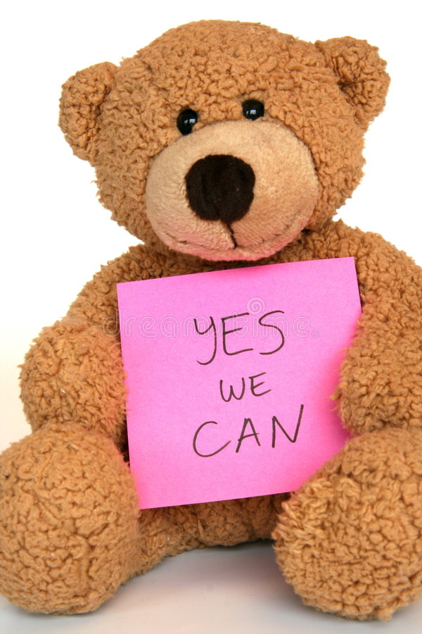 Yes we can bear royalty free stock photography