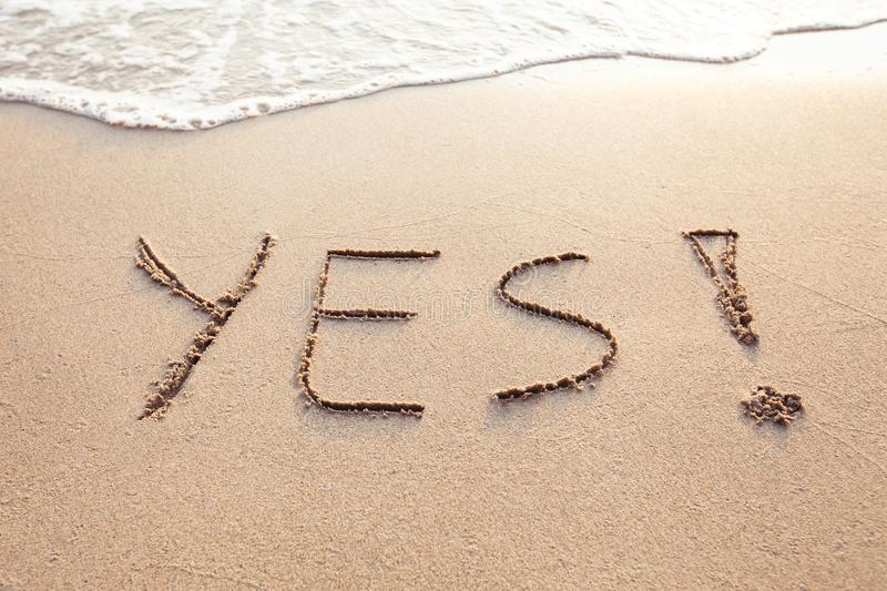 YES concept, positive changes in the life royalty free stock image