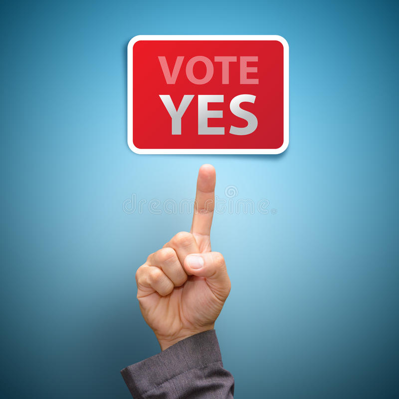 YES do voto foto de stock royalty free