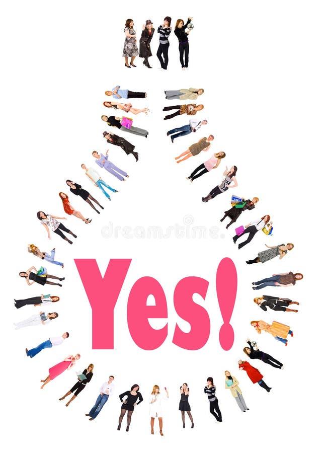 Yes! We got it!. Isolated on white background stock illustration