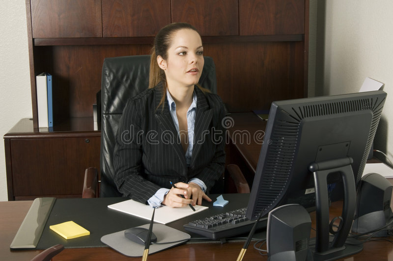 Yes, I'll be right there! stock photo