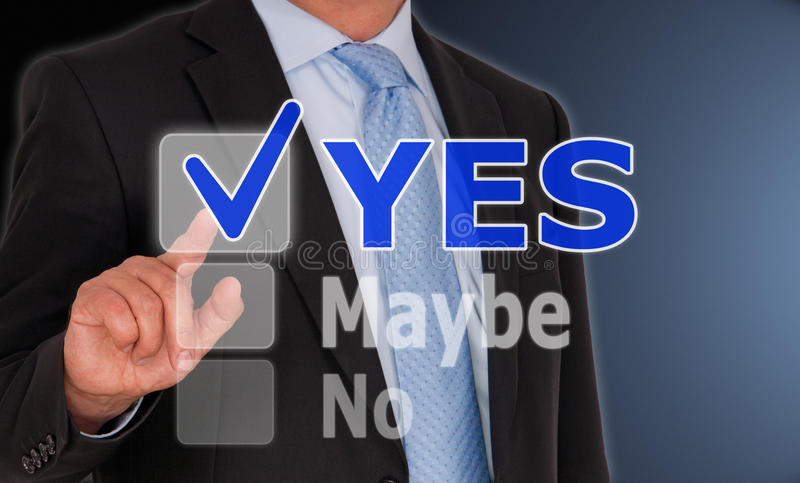 Download Yes, maybe or no stock photo. Image of dark, finger, shirt - 39502040