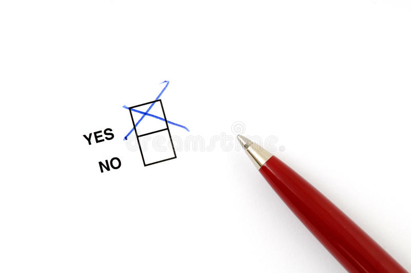 Yes Or No Royalty Free Stock Photography
