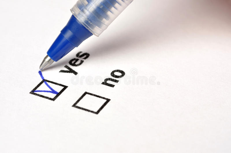 Yes or No stock image