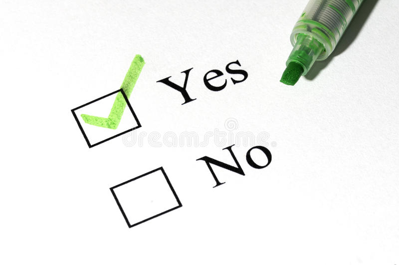 Yes no royalty free stock photography