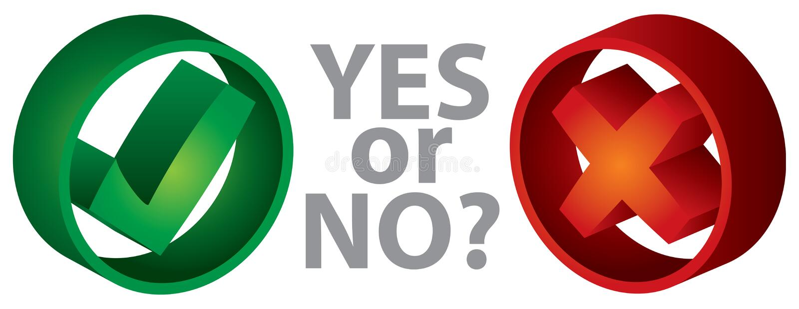 Download Yes or No stock vector. Image of denied, tick, choice - 17829011