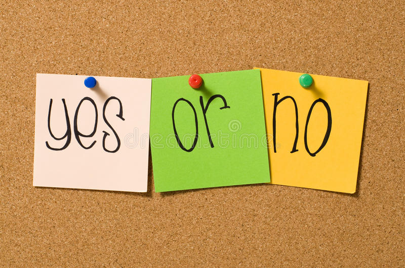 Download Yes Or No stock image. Image of conceptual, pins, bulletin - 20772709