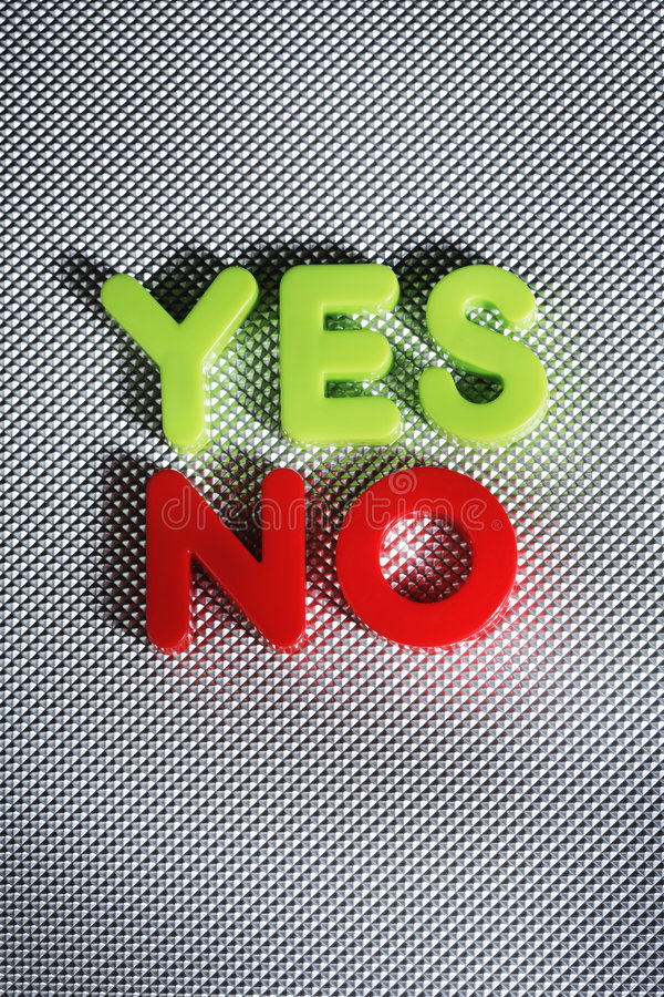 Download Yes or No? stock photo. Image of word, green, nobody, alternatives - 6645068