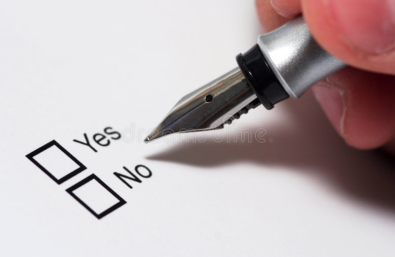 Yes or No stock photos