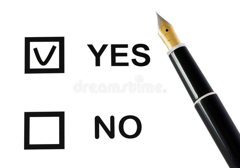 Download Yes or no stock image. Image of black, office, choice - 9253723