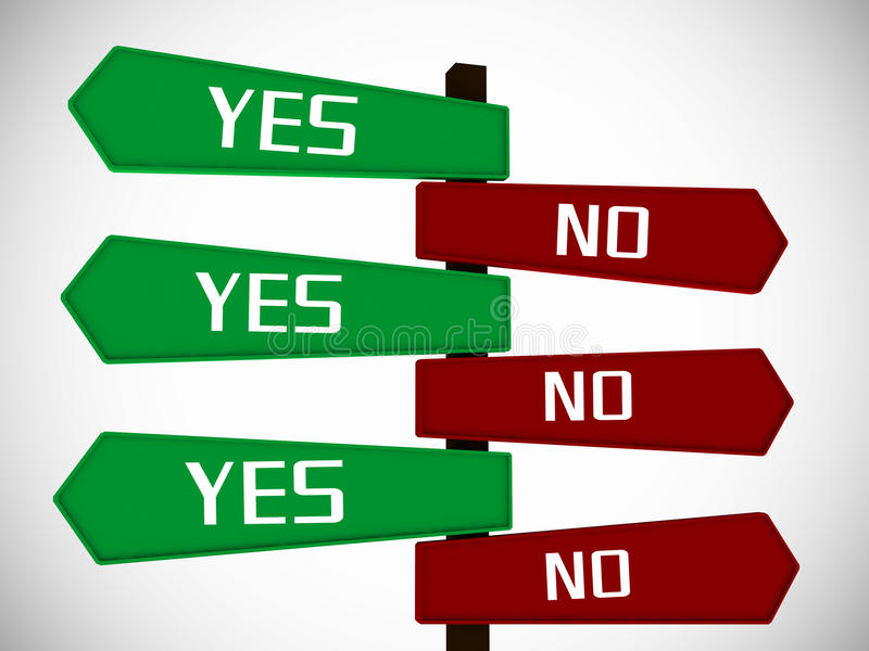 Yes No Board Stock Image