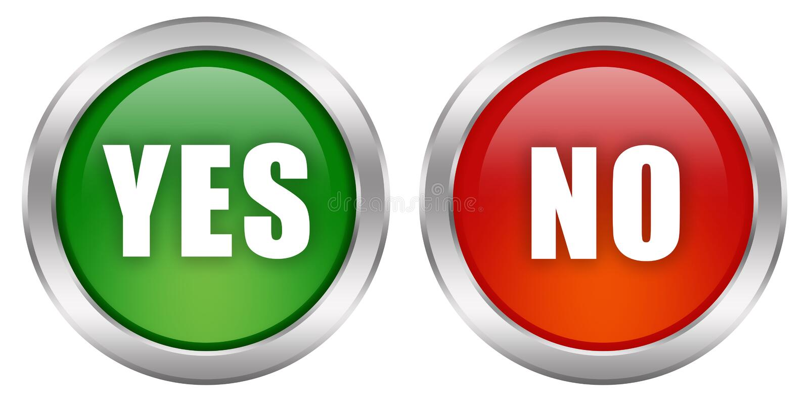 Yes no button vector illustration