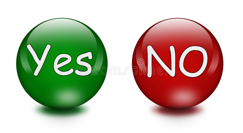 Download Yes No buttons stock illustration. Image of form, shiny - 14699546