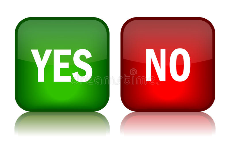 Yes no buttons stock vector. Illustration of make, like ...