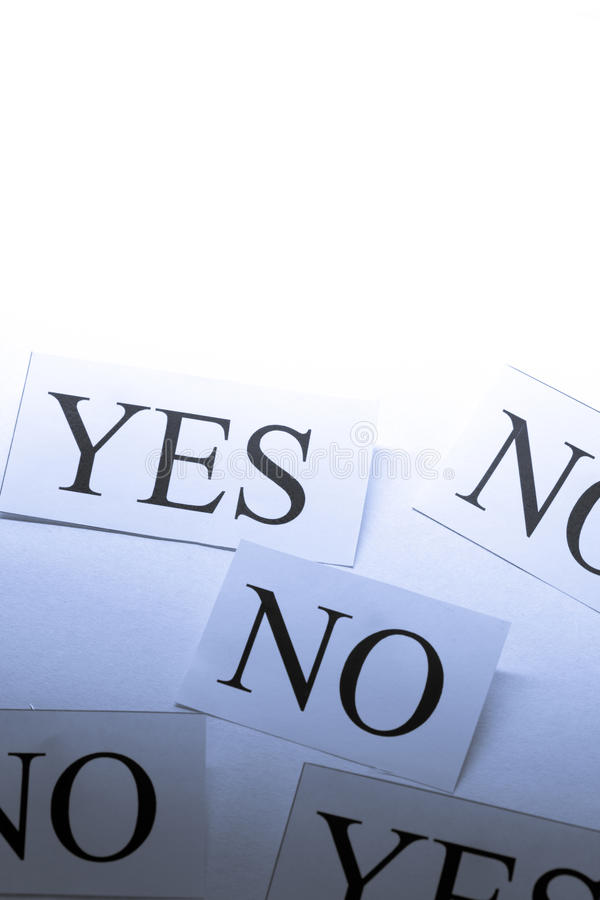 Yes and No cards