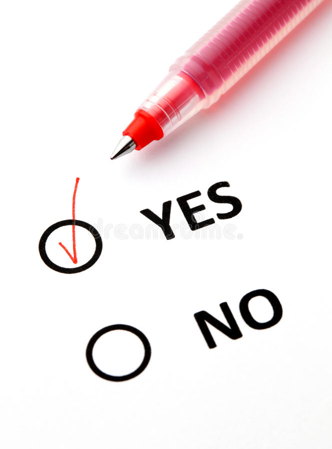 Yes Or Yes Twice Twicemedia: Yes Or No Checkbox Stock Photo. Image Of Sheet, Checkbox