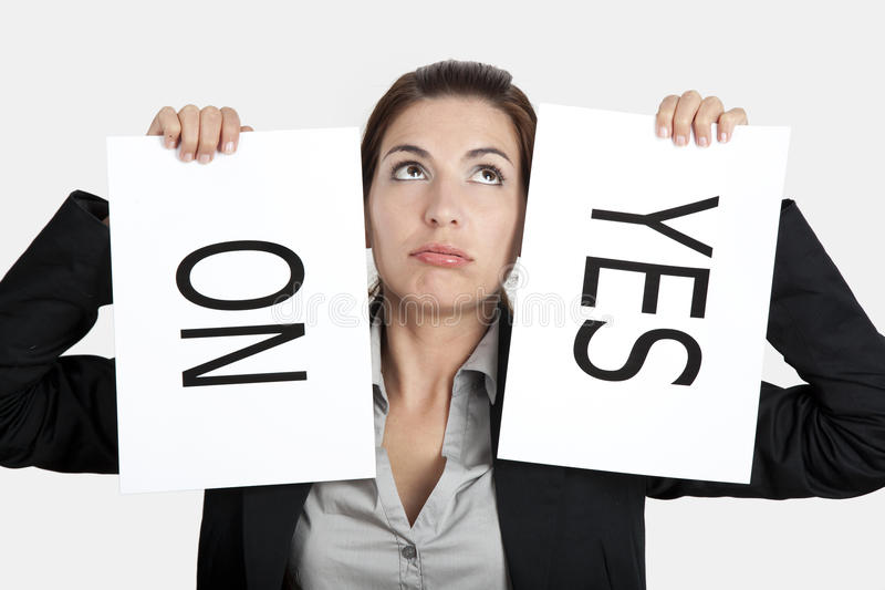 Download Yes or No choice stock image. Image of female, indecision - 18548037