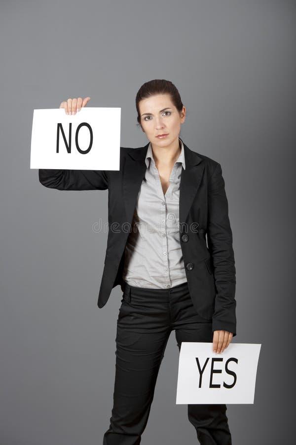 Yes Or No Choice Royalty Free Stock Photos