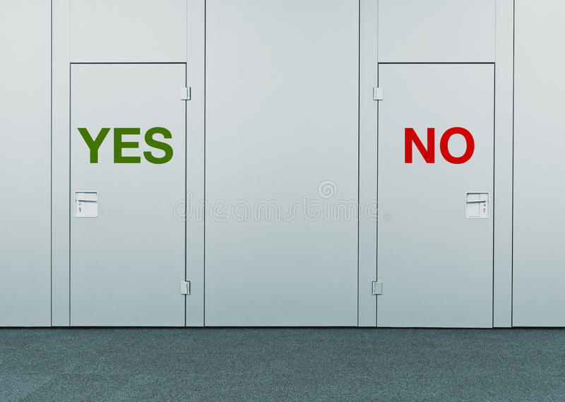 Download Yes Or No Concept Of Choice Stock Image - Image of behind entrance  sc 1 st  Dreamstime.com & Yes Or No Concept Of Choice Stock Image - Image of behind entrance ...