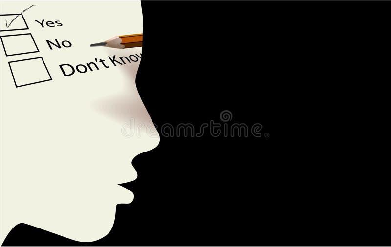 Yes no decide vector illustration
