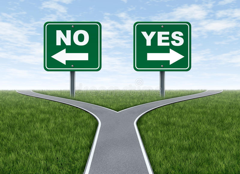 Yes or no decision royalty free illustration