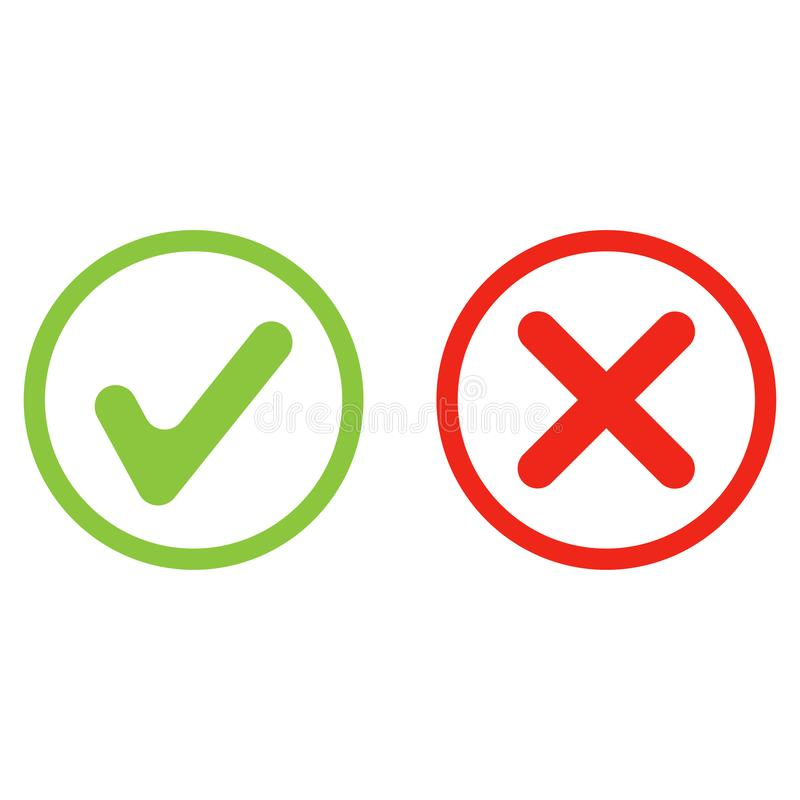 Free Yes No Green And Red Icon Vector Stock Photography - 152480732