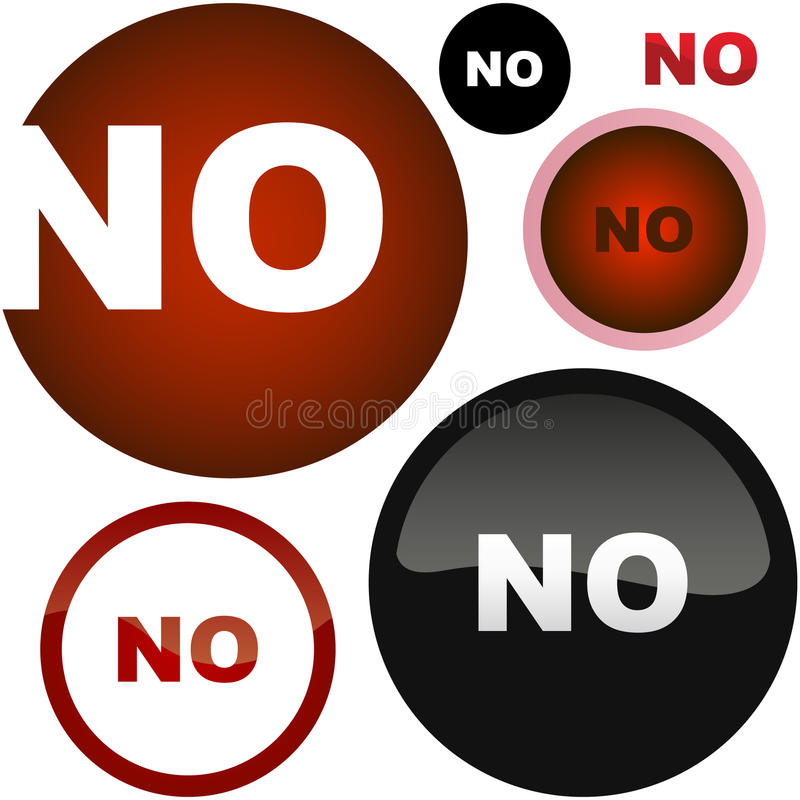 Yes and No. Icon set for design stock illustration