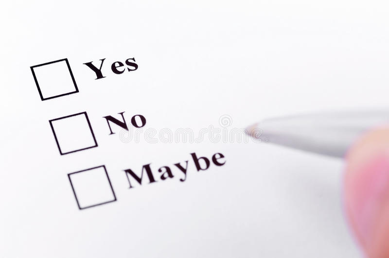 Download Yes, No, Maybe Royalty Free Stock Photo - Image: 24082435