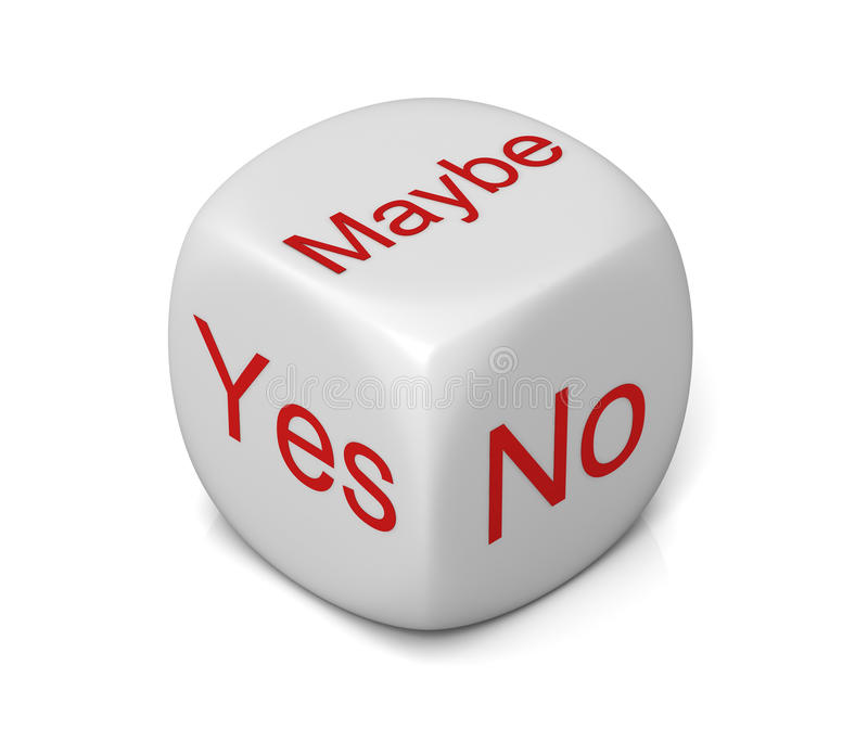Yes, no, maybe dice stock illustration. Illustration of ...