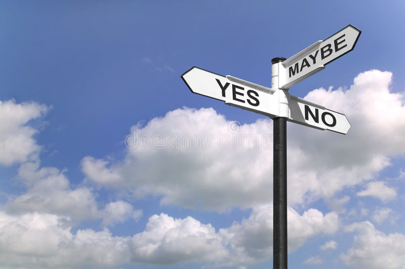 Download Yes No Maybe signpost stock image. Image of decision, maybe - 4744969