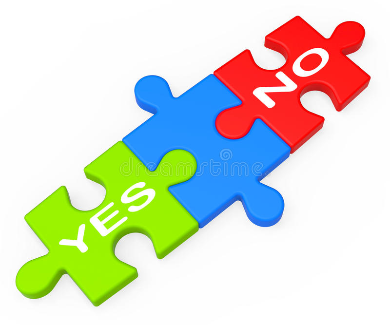 Download Yes No Shows Uncertainty And Decisions Stock Illustration - Image: 28057403